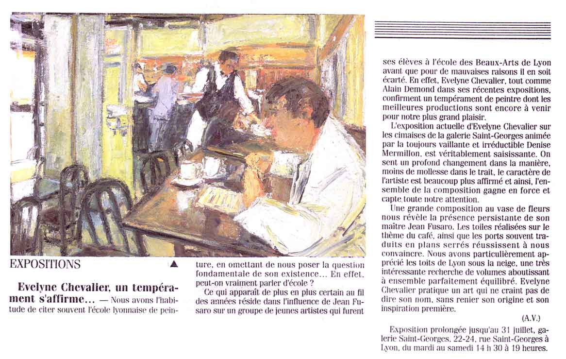 Presse Evelyne Chevalier