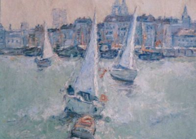 artiste peintre huile sur toile